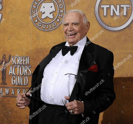 Us Actor Ernest Borgnine Jokes with Photographers After Being Given His Lifetime Achievement Award at the 17th Annual Screen Actors Guild Awards Held at Shrine Auditorium in Los Angeles California Usa 30 January 2011 United States Los Angeles