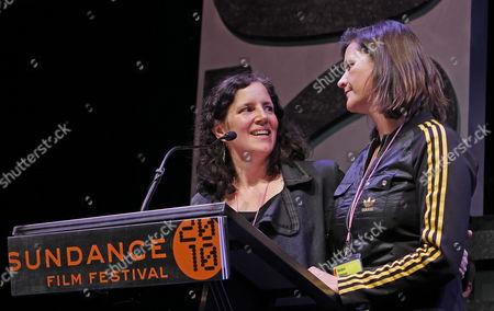 Cinematographer Kirsten Johnson (r) and Producer Laura Poitras (l) Accept the Excellence in Cinematography Award - Documentary For the Movie 'The Oath' at the 2010 Sundance Film Festival Awards Night in Park City Utah Usa 30 January 2010 United States Park City