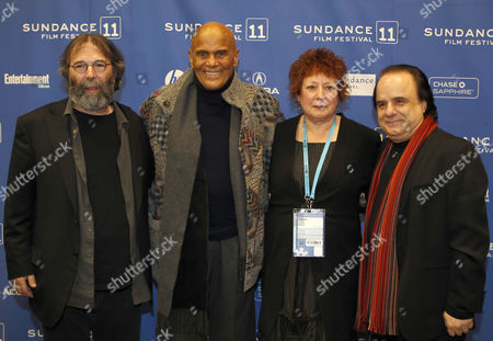 Producer Michael Cohl (l) Harry Belafonte (2-l) Filmmaker Susanne Rostock (2-r) and Producer Julius Nasso (r) Posses For a Picture Before the Premier of the Movie 'Sing Your Song' During the 2011 Sundance Film Festival in Park City Utah Usa 20 January 2011 the Movie by Us Director Susanne Rostock is Presented in the Documentary Competition at the Festival Running From 20 to 30 January United States Park City