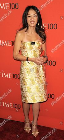 Amy Chua of the Us who Wrote the Book 'Battle Hymn of the Tiger Mother' Arrives For the Time 100 Gala Celebrating the Magazine's List of 100 Most Influential People in New York New York Usa on 26 April 2011 United States New York