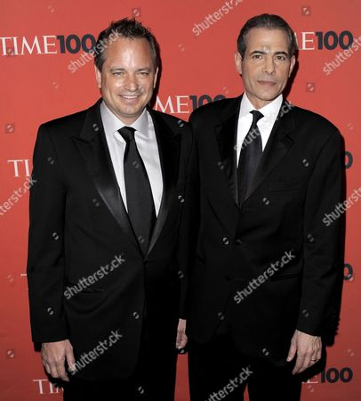 Mark Ford (l) President of Time Inc 'S News Group and Richard Stengel the Managing Editor of Time Arrive For the Time 100 Gala Celebrating the Magazine's Issue on the 100 Most Influential People in the World at the Frederick P Rose Hall in New York New York Usa on 04 May 2010 United States New York