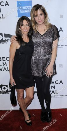 Musicians Susannah Hoffs (l) and Vicki Peterson (r) of the Band the Bangles Arrive For the Premiere of the Film 'The Union' a Film by Cameron Crowe About the Collaboration Between Elton John and Leon Russell at the Opening Night of the Tribeca Film Festival in New York New York Usa on 20 April 2011 the Tribeca Film Festival Runs Through 01 May 2011 United States New York