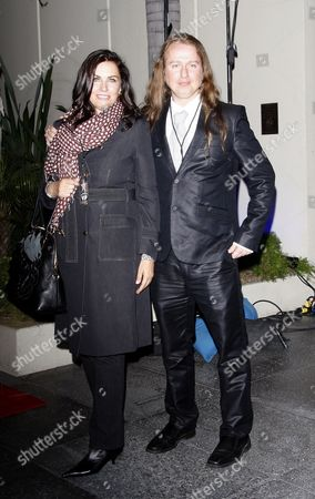 The Widow of Us Musician Roy Orbison Barbara Orbison and Her Son Roy Orbison Jr Arrive to Witness Former Beatles Drummer Ringo Starr Being Honored with the 2 401st Star on the Hollywood Walk of Fame in Los Angeles California 08 February 2010 the Evening Ceremony Also Marked the 50th Anniversary of Groundbreaking on the Sidewalk Attraction United States Los Angeles