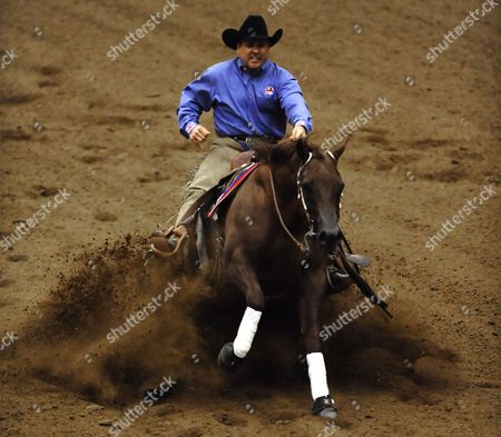 Don Julio Whiz Ridden by Doug Allen From Great Britain Competes in the Individual Final Reining Championship at the World Equestrian Games in Lexington Kentucky Usa 30 September 2010 the World Equestrian Games Are Being Held Outside of Europe For the First Time United States Lexington