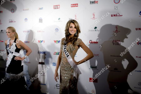 Uncropped Version of Epa01389749 ------------------------ Miss Australia Laura Dundovic (r) 21 and Miss Belgium Alizee Poulicek 21 Arrive at the Caravelle Hotel For the Miss Universe 2008 Pageant in Ho Chi Minh City Vietnam 20 June 2008 the Contest Will Be Held on 14 July 2008 in Vietnam Viet Nam Ho Chi Minh City