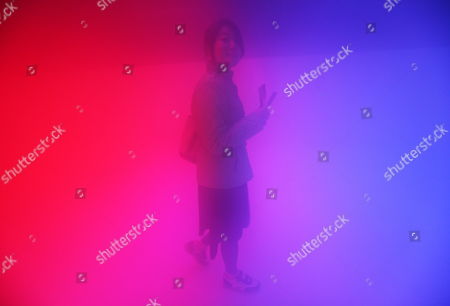 A Picture Made Available on 12 April 2010 Shows a Visitor Exploring Inside an Art Installation Entitled 'Feelings Are Facts' a Collaboration Between World-renowned Danish-icelandic Artist Olafur Eliasson and Leading Chinese Architect Ma Yansong in Beijing China 11 April 2010 Using Lights Mist and Temperature the Art Form Lets Viewers Enter a Space of Fog and Colours with the Aim of Challenging Their Relationship with Both Nature and Their Urban Environment China Beijing