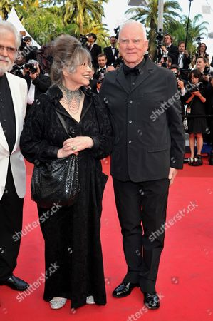 British Actor Malcolm Mcdowell (r) and Stanley Kubrick's Widow Christiane Kubrick (l) Arrive For the Screening of 'La Piel Que Habito' (the Skin i Live In) During the 64th Cannes Film Festival in Cannes France 19 May 2011 the Movie by Spanish Director Pedro Almodovar is Presented in the Official Competition of the Film Festival Running From 11 to 22 May France Cannes