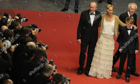 (l-r) Belgian Director Luc Dardenne Belgian Actress Cecile De France Belgian Actor Thomas Doret and Belgian Director Jean-pierre Dardenne Arrive For the Screening of 'Le Gamin Au Velo' (the Kid with the Bike) During the 64th Cannes Film Festival in Cannes France 15 May 2011 the Movie by Jean-pierre and Luc Dardenne is Presented in the Official Competition of the Film Festival Running From 11 to 22 May France Cannes