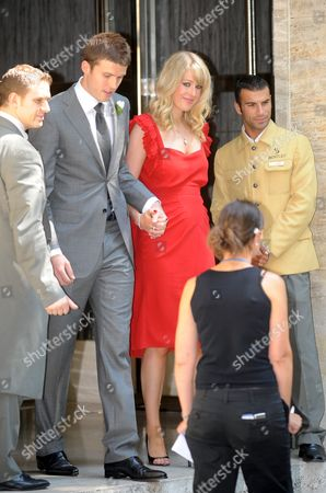 Editorial picture of Guests leaving the Hotel Bentley to attend Wayne Rooney and Coleen Mcloughlin's Wedding, Genoa, Italy - 12 Jun 2008