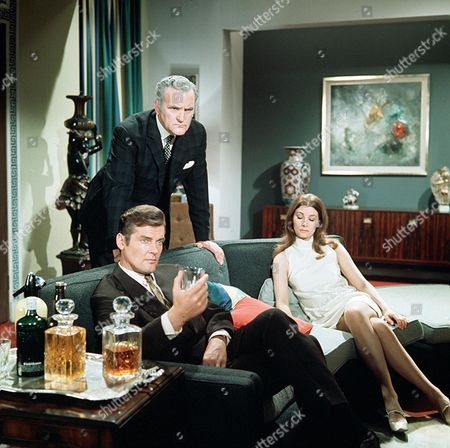 Stock Picture of 'The Saint' TV - 1968 - The Scales of Justice - Roger Moore, Andrew Keir, Jean Marsh