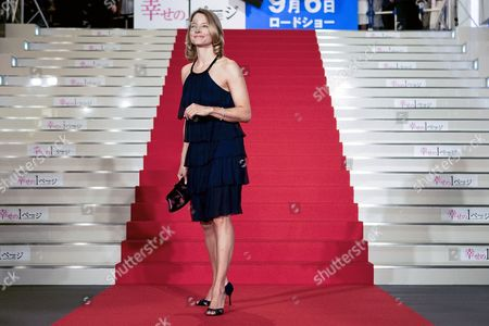 Us Actress and a Cast Member of the Us Film 'Nim's Island' Jodie Foster Poses For the Photographers Upon Her Arrival at the Red Carpet Event Held to Promote the Film in Tokyo Japan 19 August 2008 Directed by Directors Mark Levin and Jennifer Flackett and Starring Jodie Foster and Abigail Breslin the Adventure-fantasy Film Based on the Book with the Same Title Tells a Story of a Young Girl Named Nim (breslin) and Alexandra Rover (foster)'s Adventure to Rescue Nim's Father who Gets Lost in a Sea Storm the Movie Will Hit the Cinemas All Over Japan on 06 September 2008 Japan Tokyo