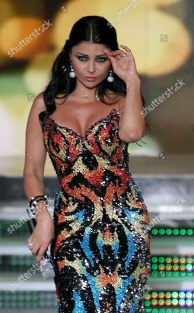 Lebanese Actress and Singer Haifa Wehbe Performs During the Miss Lebanon 2010 Contest in Adma North of Beirut Lebanon on 09 July 2010 Lebanon Beirut
