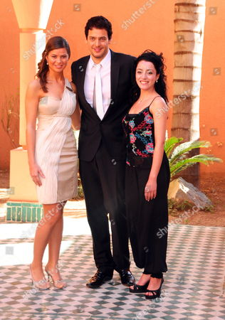 Egyptian Actors Yousra El Louzy (l-r) Khaled Abol Naga and Aya Soliman Pose During a Photocall at the Ninth Annual Marrakech International Film Festival in Marrakech Morocco 07 December 2009 the Festival Runs Until 12 December