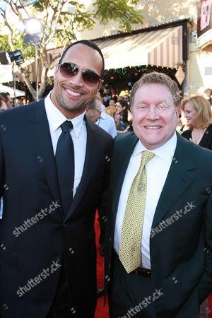 Dwayne Johnson and Producer Michael Ewing