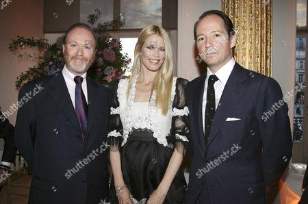 Prince Pierre d'Arenberg, Claudia Schiffer and Prince Dimitri of Yugoslavia