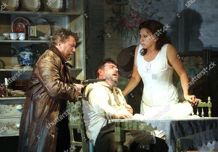 'La Fanciulla del West' - Olafur Sigurdarson ( Jack Rance ) John Hudson (  Dick Johnson ) Cynthia Makris ( Minnie )