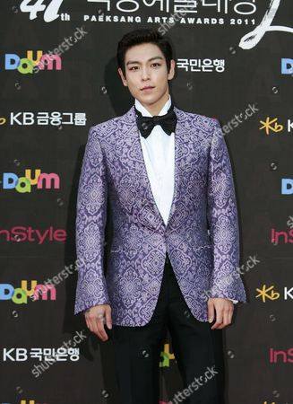 South Korean Band Member T O P and Actor Choi Seung-hyun Arrives For the 47th Annual Baeksang Art Awards at the Kyunghee University in Seoul South Korea 26 May 2011 Choi Seung-hyun Performed in the Movie '71: Into the Fire' by John H Lee Korea, Republic of Seoul