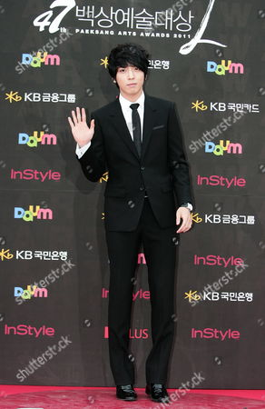South Korean Singer of Group 'Cnblue' and Actor Jung Yong-hwa Arrives at the 47th Annual Baeksang Art Awards at the Kyunghee University in Seoul South Korea 26 May 2011 Korea, Republic of Seoul