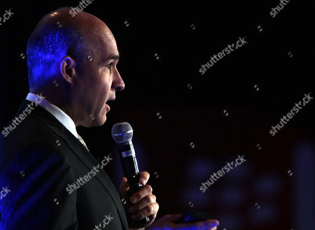 Stock Picture of Jim Balsillie Chairman and Co-chief Executive Officer of Research in Motion Ltd Talks During an Exclusive Keynote Speech at Gulf Information Technology Exhibition (gitex) in Dubai United Arab Emirates 18 October 2010 Balsillie is 'Sincerely and Genuinely Excited' About Growth Potential in the Uaes Market He Said Balsillie Told the Audience That the Company was Now Actively Engaged with the Uae's Telecommunications Regulatory Authority to Develop New Applications For E-government in the Uae United Arab Emirates Dubai