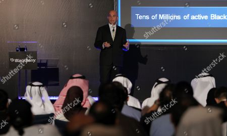 Jim Balsillie Chairman and Co-chief Executive Officer of Research in Motion Ltd Delivers an Exclusive Keynote Address at Gulf Information Technology Exhibition (gitex) in Dubai United Arab Emirates on 18 October 2010 Balsillie is 'Sincerely and Genuinely Excited' About Growth Potential in the Uae's Market He Said Balsillie Told the Audience That the Company was Now Actively Engaged with the Uae's Telecommunications Regulatory Authority to Develop New Applications For E-government in the Uae United Arab Emirates Dubai