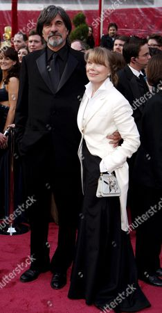 Us Actress Sissy Spacek (r) Arrives with Her Husband Jack Fisk (l) at the 80th Annual Academy Awards at the Kodak Theatre in Hollywood California Usa 24 February 2008 the Academy Awards Popularly Known As the Oscars Are Presented by the Academy of Motion Picture Arts and Sciences (ampas) to Recognize Excellence of Professionals in the Film Industry Including Directors Actors and Writers