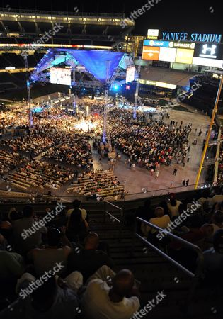 General View of the Scene at the Yankee Stadium in New York Late 5 June 2010 when Miguel Cotto of Puerto Rico Fought Yuri Foreman of the United States in a Wba World Super Welterweight Title Fight United States Bronx