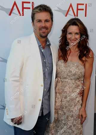 Actors Aaron Mcpherson (l) and Challen Cates (r) Arrive For the Commerce Premiere at the American Film Institute in Hollywood California Usa 19 July 2011 United States Hollywood