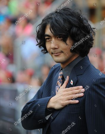 Japanese Actor Yuki Matsuzaki who Plays the Pirate 'Garheng' Arrives For the World Premiere of Pirates of the Caribbean: on Stranger Tides at Disneyland in Anaheim California Usa 07 May 2011 United States Anaheim