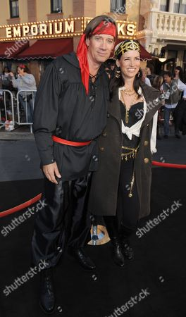 Us Actors Kevin Sorbo (l) and Sam Jenkins (r) Came Dressed As Pirates As They Attend the World Premiere of Pirates of the Caribbean: on Stranger Tides at Disneyland in Anaheim California Usa 07 May 2011 United States Anaheim
