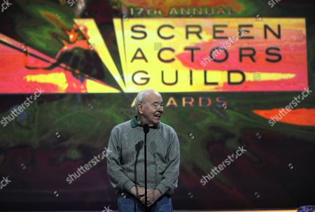 Us Actor Tim Conway Rehearses As Preparations For the 1th Annual Screen Actors Guild Awards Are Underway at the Shrine Auditorium in Los Angeles California Usa 29 January 2011 the Sag Awards That Take Place on 30 January Will Honor the Best in Film Making As Voted For by the Actors Association Conway who Co-starred with Ernest Borgnine in the Popular Television Show 'Mchale's Navy' Will Present Him with a Lifetime Achievement Award at the Sag Awards United States Los Angeles