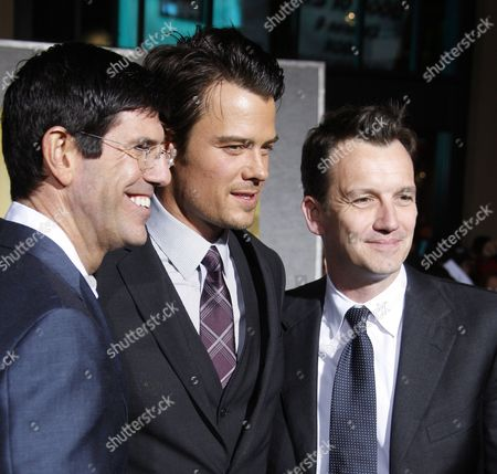Us Chairman of Walt Disney Studios Rich Ross Us Actor and Cast Member Josh Duhamel and Us Producer Gary Foster Arrive at the World Premiere of 'When in Rome' Held at the El Capitan Theatre in Los Angeles California Usa on 27 January 2010 United States Los Angeles
