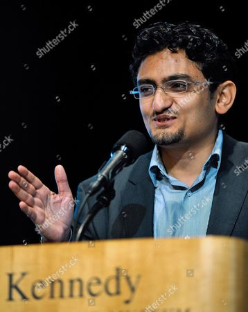 Wael Ghonim of Egypt During His Speech After Accepting For Himself and the People of the Country of Egypt the Profile in Courage Award For His Part in the Start the People's Revolution in Egypt at the John F Kennedy Library in Boston Massachusetts Usa 23 May 2011 United States Boston