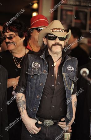 Us Rock Drummer Carmine Appice (l) and Lemmy Kilmister of the Uk Band Motorhead (r) Attend German Rock Band the Scorpions' Hollywood Rockwalk Induction Ceremony in Hollywood California Usa 06 April 2010 Hollywood's Rockwalk Honors Artists who Have Made a Significant Impact and Lasting Contribution to Rock and Roll Blues and R&b United States Hollywood