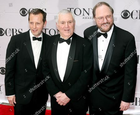 (l-r) Choreographer Rob Ashford Composer John Kander and Rupert Holmes Arrive For the 61st Annual Tony Awards at Radio City Music Hall in New York New York On 10 June 2007