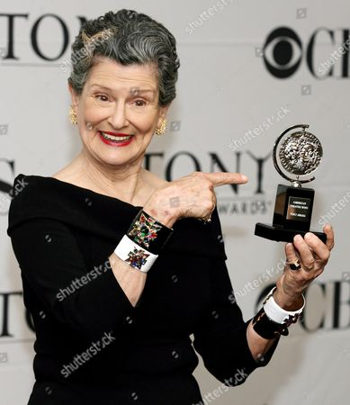 Mary Louise Wilson of the Show 'Grey Gardens' Holds Her Tony Award For 'Best Performance by a Featured Actress in a Musical' at the 61st Annual Tony Awards at Radio City Music Hall in New York New York On 10 June 2007