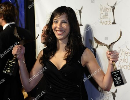 Us Screenwriter Erin Levy Holds Her Awards For Outstanding Drama Series and Episodic Drama For 'Mad Men' at the Writers Guild of America Awards (wga) in Hollywood California Usa 05 February 2011 United States Hollywood