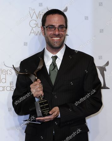 Stock Picture of David Levinson Holds His Wga Award For Outstanding Script Television Daytime Drama For 'As the World Turns' at the Writers Guild of America Awards (wga) in Hollywood California Usa 05 February 2011 United States Hollywood