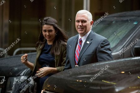 Mike Pence, Audrey Pence Vice President-elect Mike Pence, accompanied by his daughter Audrey arrives at Trump Tower in New York