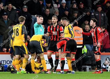 Editorial picture of Bournemouth v Arsenal, Premier League football match, Vitality Stadium, Bournemouth, UK - 03 Jan 2017