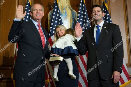 Paul Ryan, Dan Donovan House Speaker Paul Ryan of Wis. administers the House oath of office to Rep. Dan Donovan, R-N.Y., during a mock swearing in ceremony on Capitol Hill in Washington