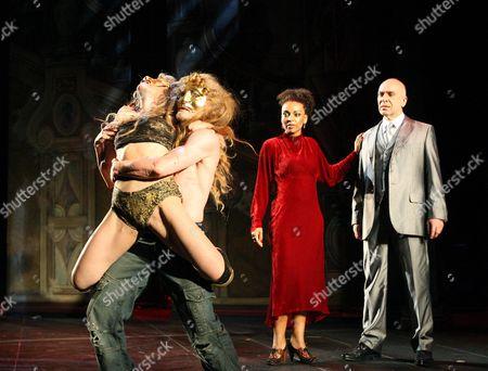 'The Revenger's Tragedy' - Donatella Cabras  Rob McNeill Adjoa Andoh ( Duchess ) Ken Bones ( The Duke )