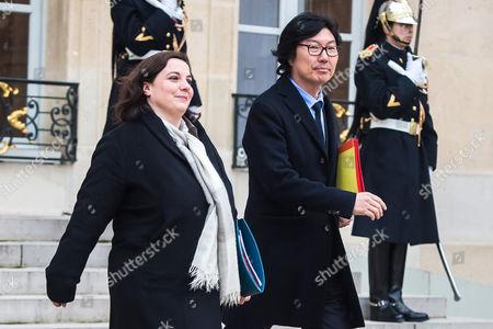 Emmanuelle Cosse and Jean-Vincent Place