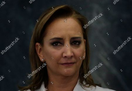 Former Mexican Chancellor Claudia Ruiz Massieu poses for a photo at the Los Pinos presidential residence in Mexico City