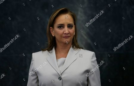 Stock Photo of Former Mexican Chancellor Claudia Ruiz Massieu poses for a photo at the Los Pinos presidential residence in Mexico City