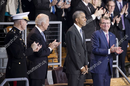 Barack Obama, Joseph Dunford and Ashton Carter