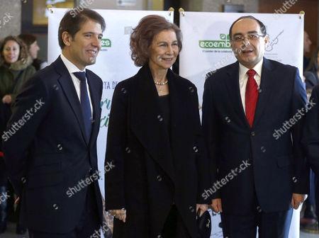 Queen Sofia, Oscar Martin and Antonio Rivas Palacios