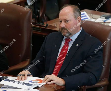 Oklahoma state Rep. Kevin Wallace, R-Wellston, is pictured on the House floor in Oklahoma City