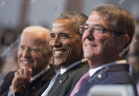 Barack Obama, Joe Biden and Ashton Carter