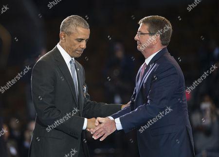 Barack Obama and Ashton Carter
