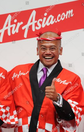 Azran Osman-rani Chief Executive Officer of Airasia X Gestures During a Press Conference to Introduce the Low-cost Air Carrier's New Business Plans For Flights to Japan in Tokyo Japan 10 December 2010 the Low-cost Long-haul Airline Began Flights Between Asia and Japan on 09 December 2010 Japan Tokyo